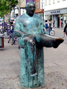 [An image showing The Sock Statue]